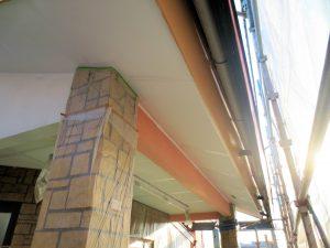 事務所屋根塗装後 破風板