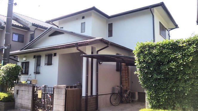 汚れの付きにくい機能の付いた塗料を使用し、屋根には遮熱が入りました。